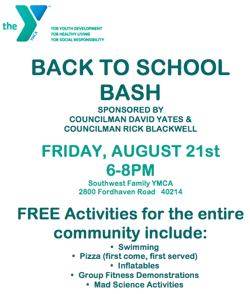 Councilmen Rick Blackwell and David Yates to host Back to