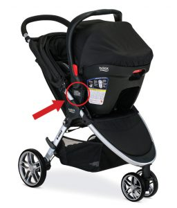 1-Britax B-Agile stroller in travel system mode